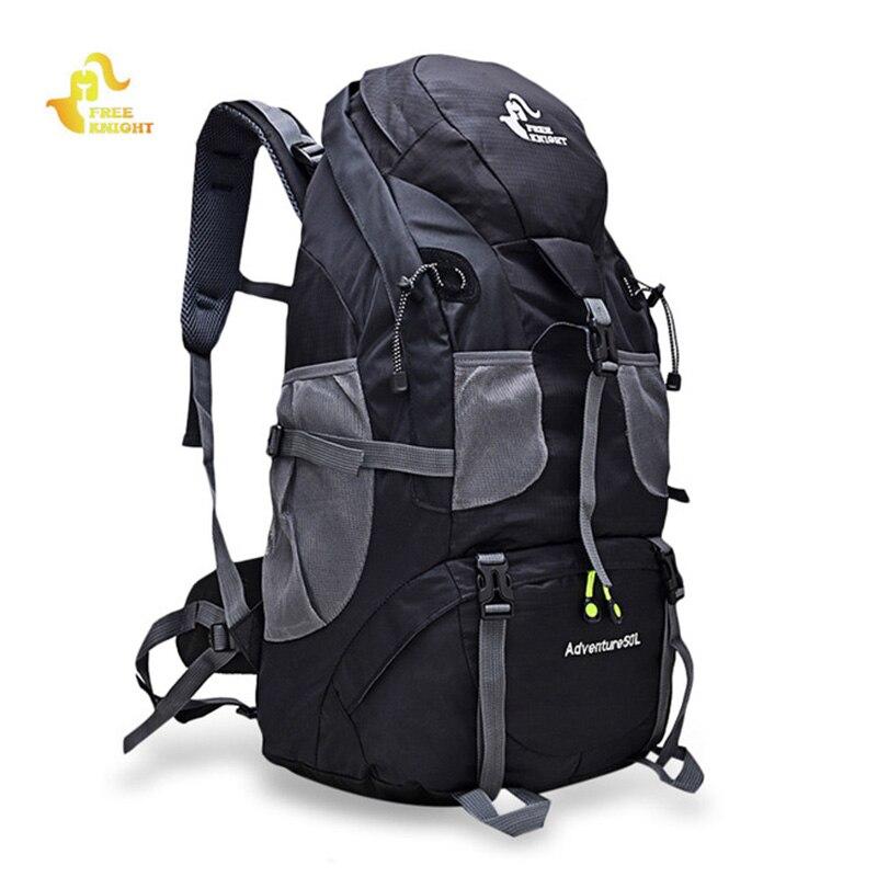 ao ar livre mochila de acampamento caminhadas mochila trekking 45l 50l roxo a prova dwaterproof agua