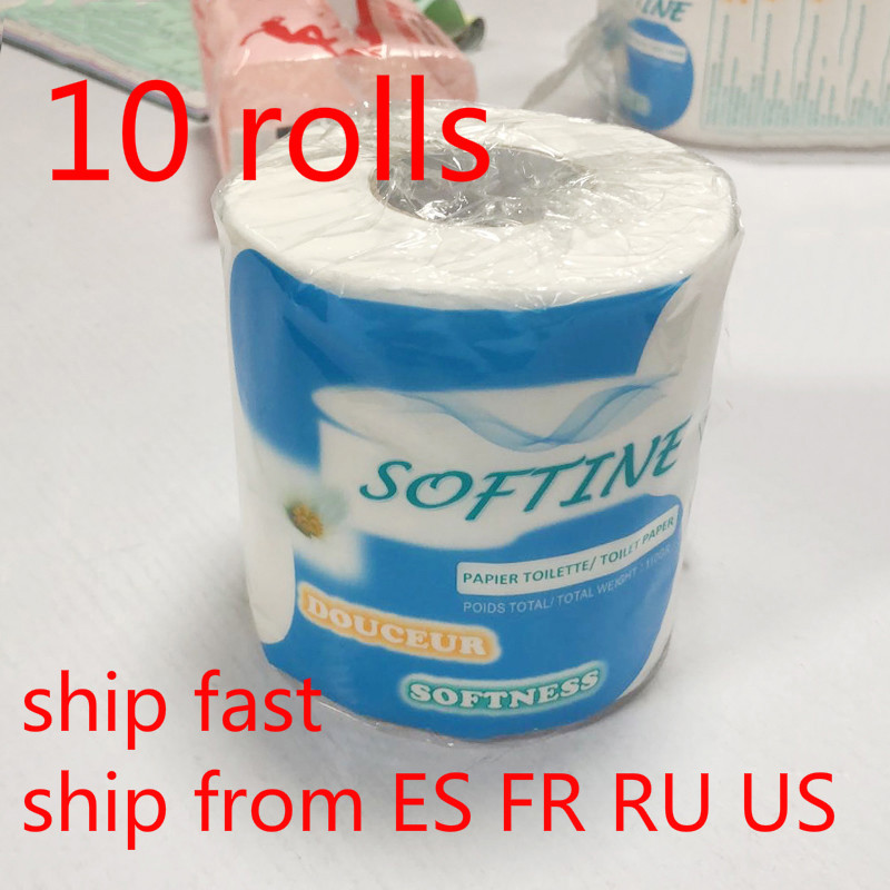 10 Rolls/lot 3 Lay Toilet Paper Home Kitchen Toilet Tissue For Toilet Bathroom Bath Paper Kitchen Roll Paper Kitchen Roll Paper