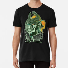 Midna Cermin T Shirt Zelda Legend Legend Of Zelda Twilight Princess Twilight Princess Midna IMP Twili Mucha(China)