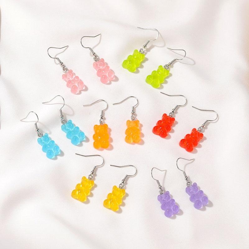 Серьги Gummy Bear ювелирные изделия винтажные кольца милые кавайные аксессуары персонализированный подарок пирсинг эмо Дизайнерские Оптовая П...