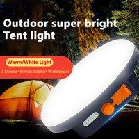 9900mAh LED tienda linterna recargable de luz de emergencia portátil de noche luz para mercado de Camping al aire libre lámpara de bulbo linterna a casa