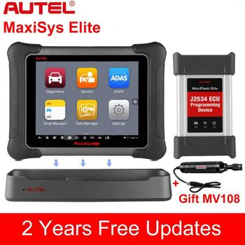 Autel MaxiSys Elite OBD2 Bluetooth Auto Diagnostic Tool Scanners Better MS908P autel maxisys elite obd2 diagnostic code reader scanners j2534 ecu programming