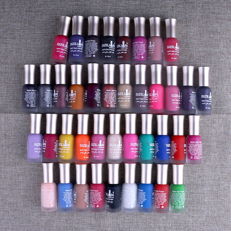 Hot Nail Polish Long-lasting Fast Quick Dry Nail Art Matte Dull Varnish LacquerNail Polish 15 Color Nails Art Design