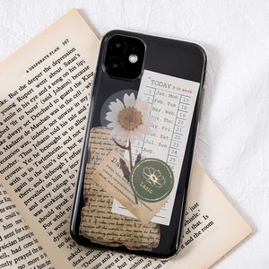JIANWU 15 Pcs Creative Literary Retro Plant Memo Pad Phone Case Decoration Card Journal Collage Material Paper Stationery kawaii
