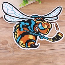 Large Embroidery Patches Clothing Decoration Accessories Cute Animals Hockey Bee Strange Things Iron Heat Transfer Applique