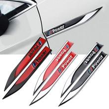2 pièces style de voiture en alliage de Zinc aile de voiture droite et gauche côté Badge aile emblème autocollant de voiture pour BMW E60 E90 E91 F10 F15 F16 F30 M3 M5