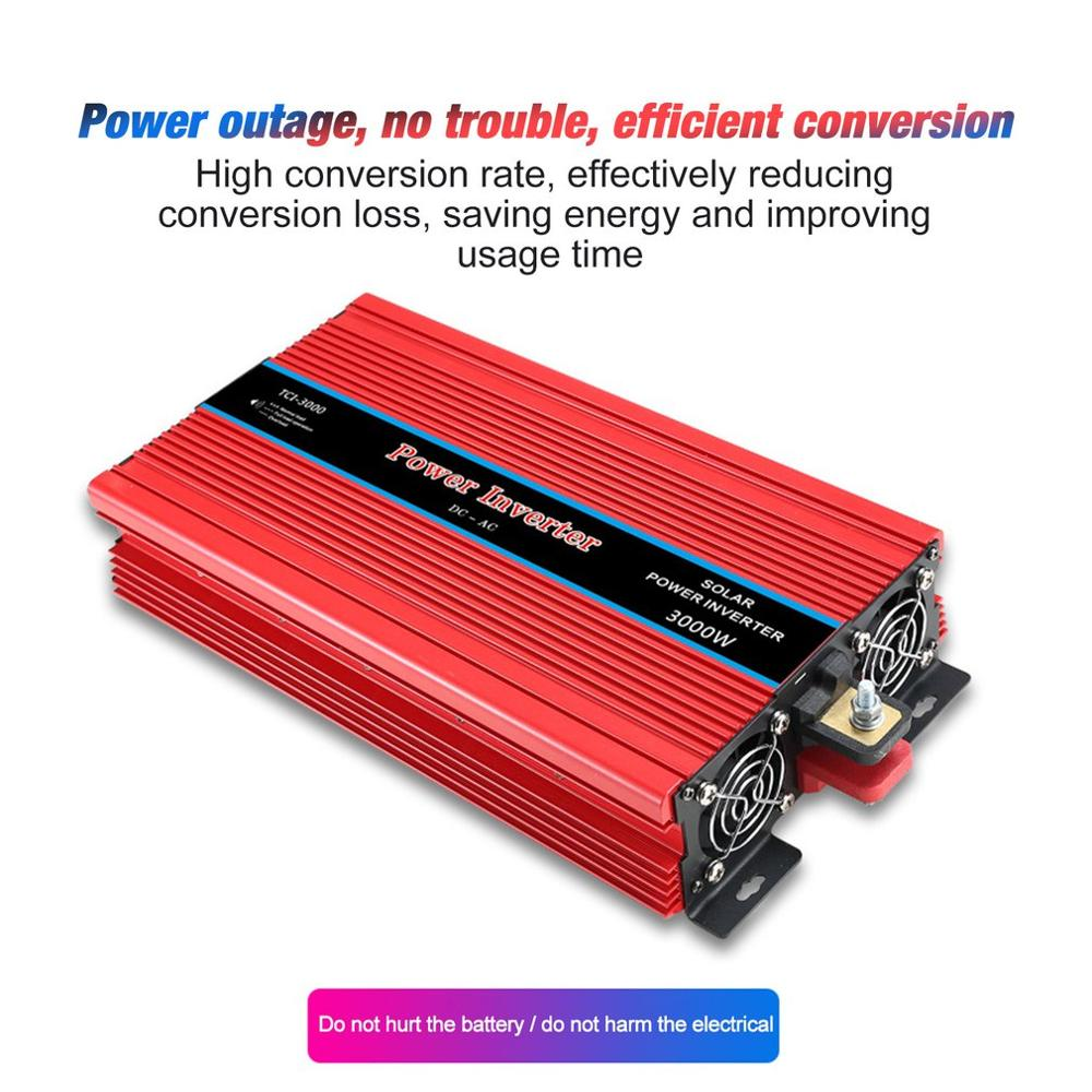 Dual Display Car Power Inverter USB Converter Charger Adapter Modified Sine Wave 3000/4000/5000/6000W - 4