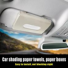 Auto Car Tissue Holder Coche Sun Visor Tissue Box Holder PU Leather Paper Napkin Cover Auto Interior Styling Accessories