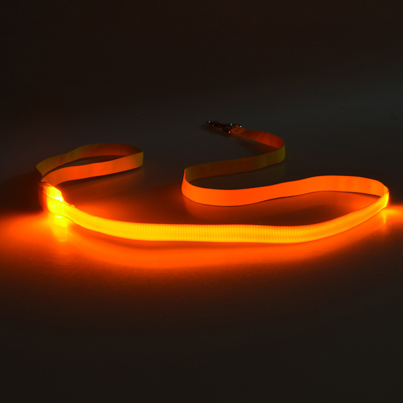 LED Traction Belt Dog Shining Hand Holding Rope Flash Dog Traction Rope