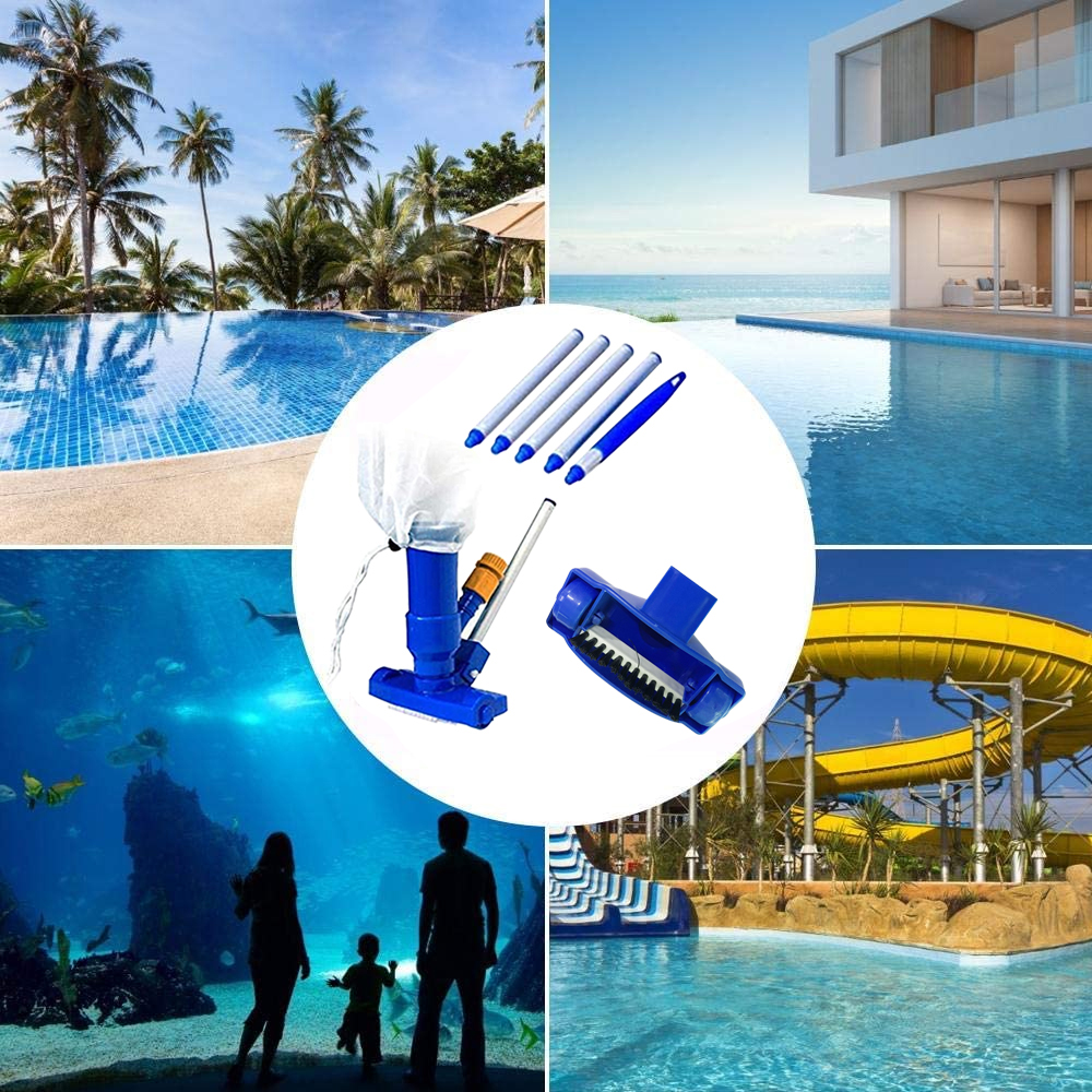 Hc386f82cd5774402995063c3ad147cf1S - 1 Set Jet Swimming Pool Vacuum Cleaner Floating Objects Cleaning Tools Vac Suction Head Pool Fountain Vacuum Brush Cleaner