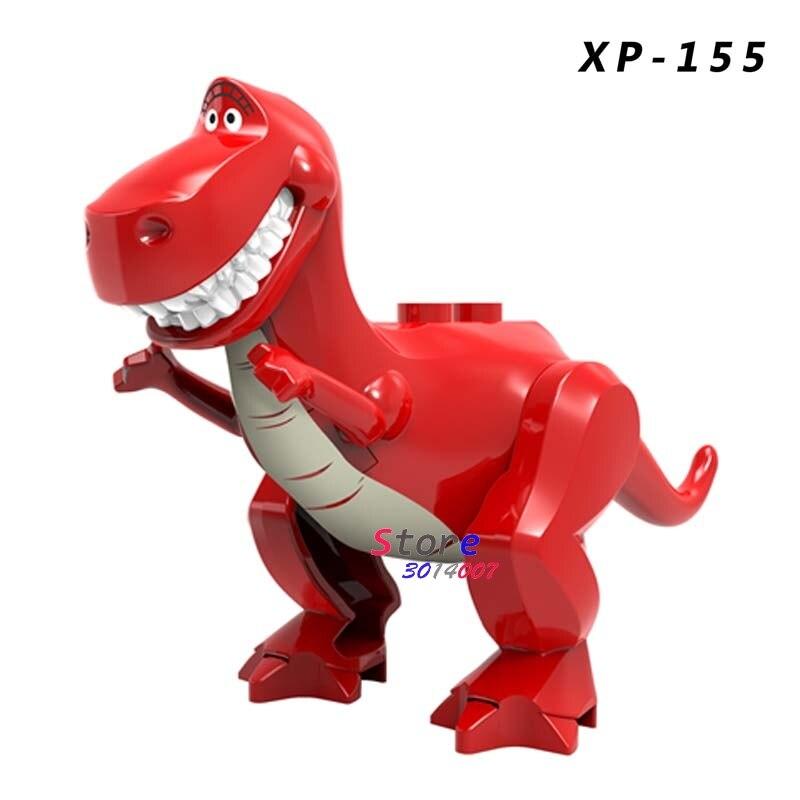 Single Building Blocks Cartoon Toys Story Red Black Woody Buzz Jessie Hearts Hamm Aliens Bulleye Lotso Toys For Children