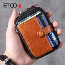 Кожаный кошелек aetoo head zero кожаная сумка для ключей мини