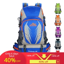 50L mochila tourist backpack trekking hiking backpacks travel mountaineer waterproof camping b