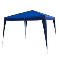 3 x 3m Wedding Tent Outdoor Waterproof Folding Tent Pop Up Canopy Tent Patio Pavilion Gazebo Two Windows Two Doors US Stock