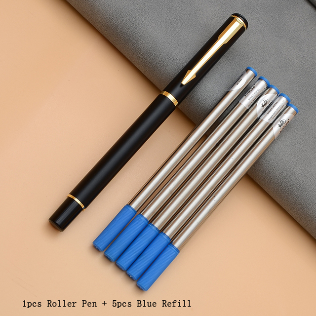 Luxury Rollerball Pen Baoer Gel Pen Metal Ball Ballpoint Pen  Papelar Boligrafo Stationery Material Escolar Volume boligrafos 5