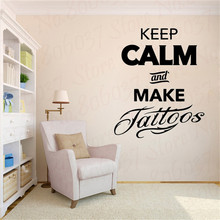 Make Tattoos Art Vinyl Wall Sticker , Tattoo Studio Decor Wall Art Decals Mural Salon Mural WL1973