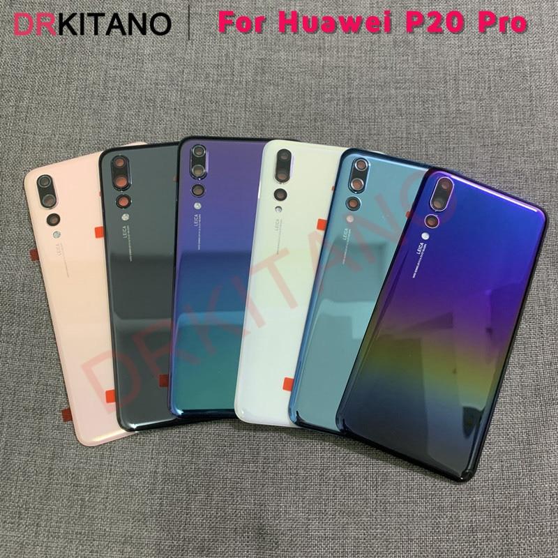 Panel tylny do Huawei P20 Pro tylna pokrywa baterii obudowa tylna obudowa szklana do Huawei P20 Pro pokrywa baterii + obiektyw aparatu