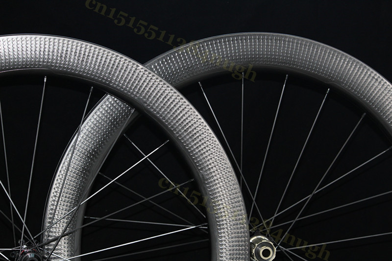 404 New 58mm Carbon Wheels Disc Brake Clincher Tubeless Disk Dimple 45mm 303 Novatec 411 Axle Hubs Wheelset in Bicycle Wheel from Sports Entertainment