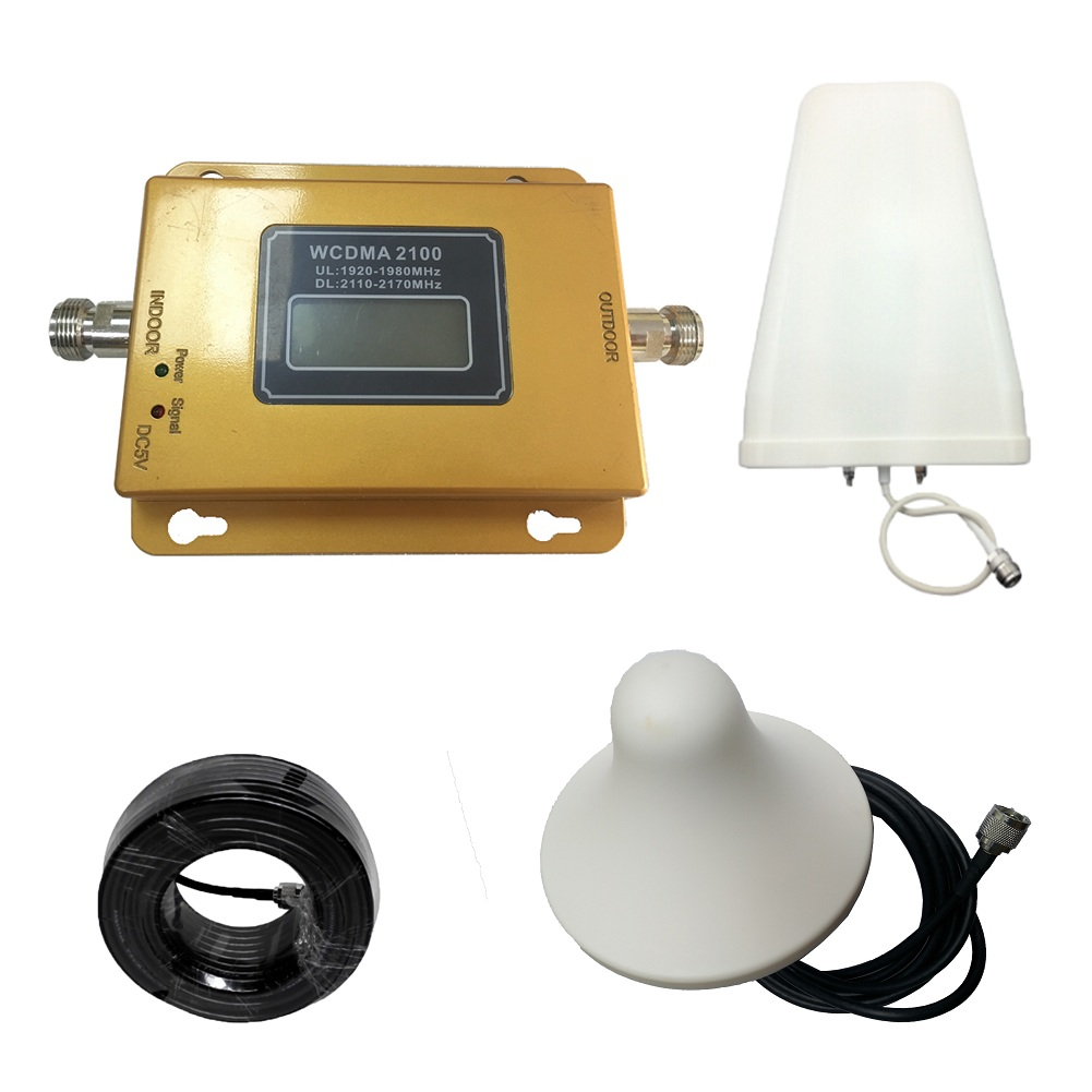 Full Set  2100 MHz UMTS Mobile Signal Booster 3G (HSPA)  WCDMA 2100MHz 3G UMTS Cellular Repeater Amplifier