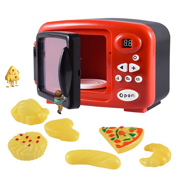 Simulation Microwave Oven Educational Toys Mini Kitchen Food Pretend Play Ser Cutting Role Playing Kid's Girls Kitchen Toys mini simulation kid cute microwave oven pretend role play toy educational for children role playing kitchen toys playing house