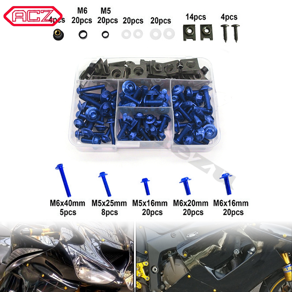 Motorcycle Accessories 177pcs Complete <font><b>Fairing</b></font> Bolts Screws Kit for <font><b>Suzuki</b></font> SV650 SV650S <font><b>SV1000</b></font> SV1000S RGV250 RF600R RF900R image