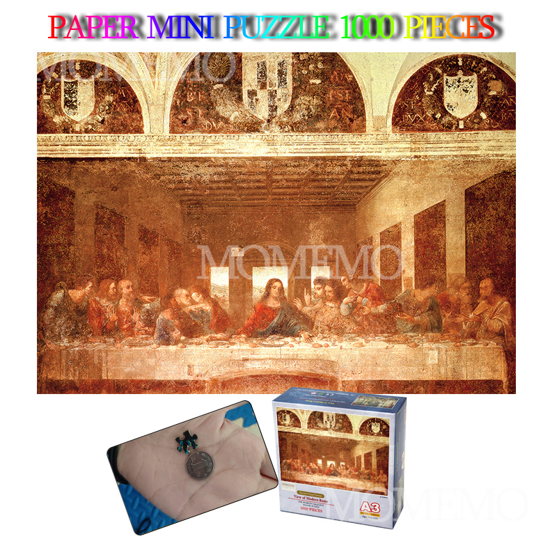 The Last Supper Mini 1000 Pieces Jigsaw Puzzle Paper Puzzle Old Master Puzzles Toys Adults 1000 Pieces Mini Paper Puzzle Gift