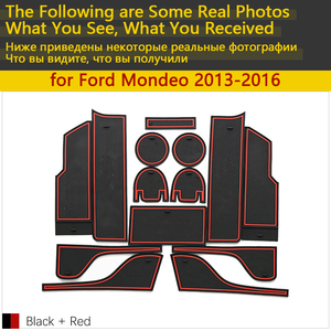 Image 2 - Tapis de téléphone antidérapant pour porte et coussin en caoutchouc, pour Ford Mondeo Fusion V MK5 5 2013 ~ 2016 2014, 14 pièces, accessoires pour téléphone