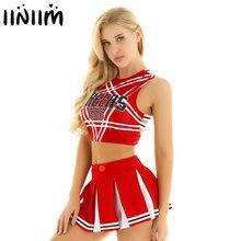 US/towar z wielkiej brytanii kobiety japońska uczennica Cosplay jednolita seksowna bielizna damska glejący cheerleaderka kostium zestaw kostium na Halloween Femme