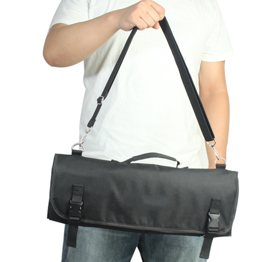 Pack Large Capacity Portable Accessories Strap Chef Knife Bag Roll Oxford Cloth Professional Kitchen 8 Pocket Slots Storage