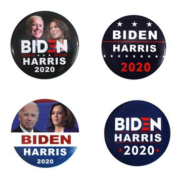 New Arrival Joe Biden Kamala Harris for President American Flag 2.28 Inch Pinback Button Pin Brooches Unisex Bulk Order image