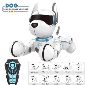 JXD A001 Smart Talking RC Robot Dog Walk & Dance Interactive Pet Puppy Robot Dog Remote Voice Control Intelligent Toy for Kids face change recording voice change smart robots voice control educational interactive toys rc robots for children kids