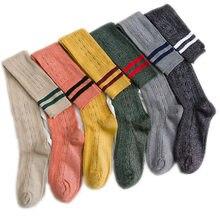 2020 primavera novo ouro e prata meias de seda meias coxa meias meias joelho bezerro meias de duas barras flores de cânhamo algodão 5 pares/peça