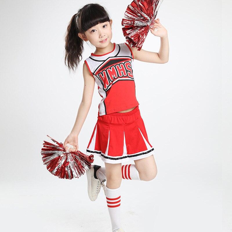 Children Cheerleading Costume Men And Women Fitness Exercise Children Primary School STUDENT'S Cheerleaders Dance Performance Ga