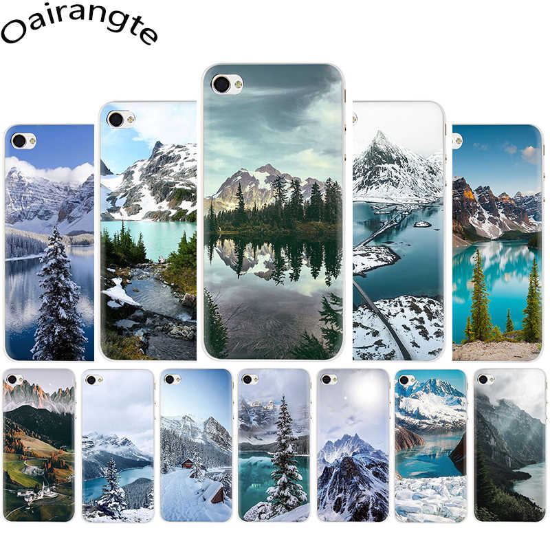 natural scenery lake Snow mountain Hard phone cover case for iphone 5 5s 5C SE 6 6s 7 8 Plus X XR XS 11 pro Max