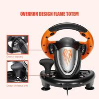PXN V3II Racing Game Pad 180 Degree Steering Wheel Vibration Joysticks With Foldable Pedal For PC PS3 PS4 All in one