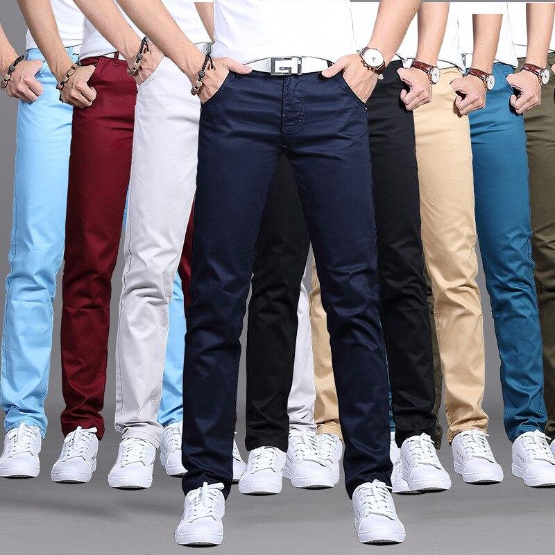 2018 Men Spring And Autumn New Style Casual Pants Young MEN'S Korean-style Fashion Slim Fit Long Pants Versitile Fashion Men's T