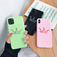 Brand NEW Candy KONING Kroon Zachte Case voor iPhone X Xs XR XsMax 8Plus 8 7Plus 7 6 6s Plus 11Pro 11ProMax 11 Telefoon Cover Coque Capa(China)