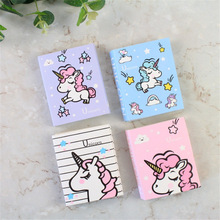 Cute Cartoon Unicorn Party Memo Pad 4 Folding N Times Sticky Paper Notes Memo Notepad Bookmark Writing Pads Gift Stationery