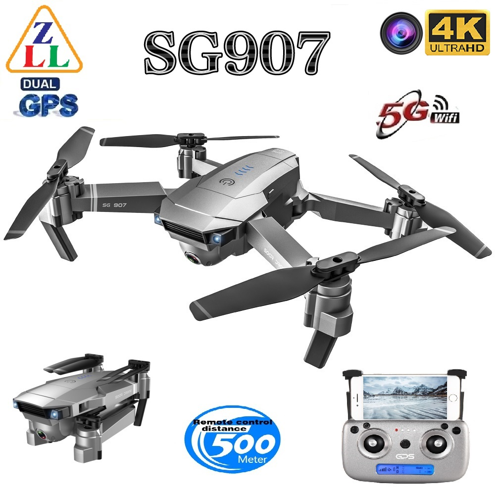 ZLL SG907 GPS Drone 4K HD Dual Camera Wide-angle Anti-shake WIFI FPV RC Foldable Four-axis Drone Professional GPS Follow Me
