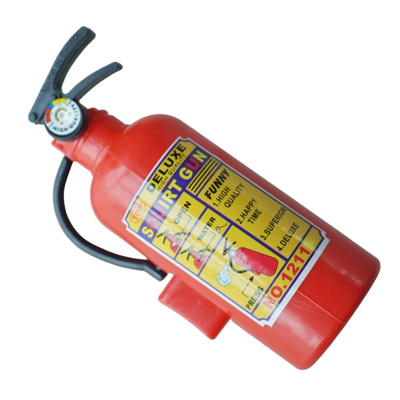 Children Red Plastic Fire Extinguisher Shaped Squirt Water Gun Toy