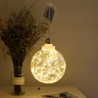 New Style LED Copper Wire Ball Bulb Stars Wish Orbs String Lights Christmas Ball Decorative Lights