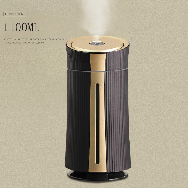 New 1100ML Air Humidifier Ultrasonic USB Diffuser Aroma Essential Oil 7 Color LED Night Light Cool Mist Purifier Humidificador