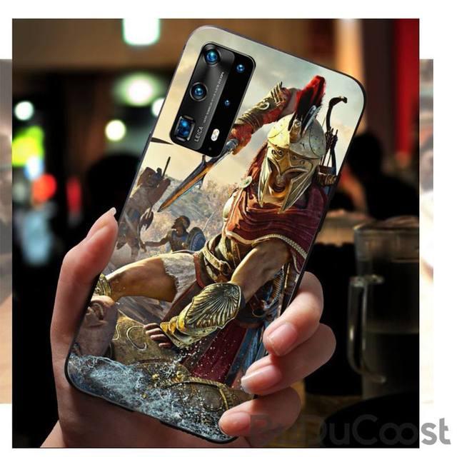 Chenel acte jeu daction spartiate souple caoutchouc couverture de téléphone pour Huawei P20 P30 P20Pro P20Lite P30Lite Psmart P10 P40