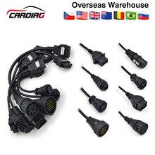 Полный комплект 8 грузовых кабелей для CDP TCS PRO obd2 кабель для Multidiag pro MVD Авто OBD2 диагностический инструмент код ридер