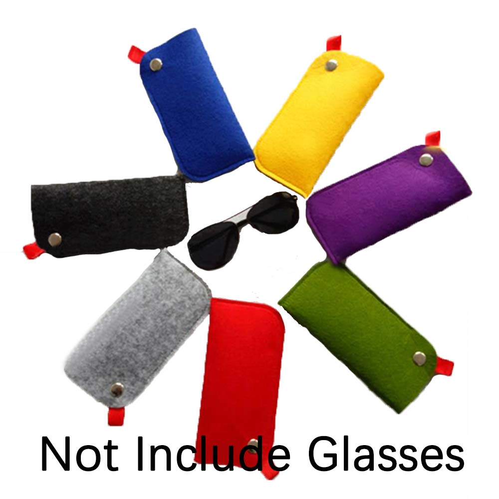 New Felt Sunglasses Case For Women Colorful Candy Eyeglasses Box Soft Bag Accessoires Lunettes De Vue Fundas Para Gafas De Sol