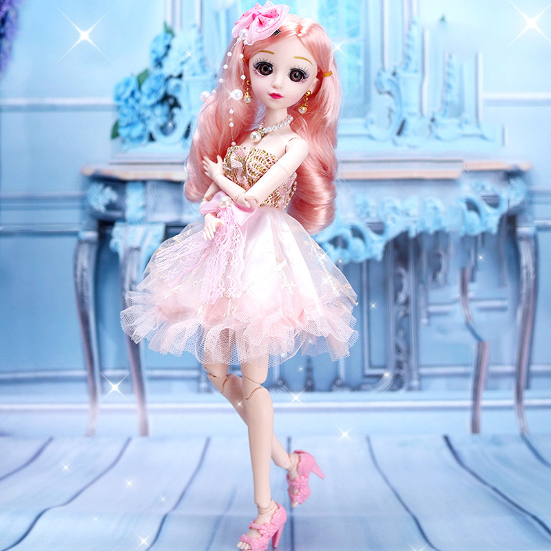 14inch Joint Moveable Dress Up Doll 36CM BJD Doll Set DIY Toy With Accessory Girl Play Toys Princess Dolls For Children's Gift