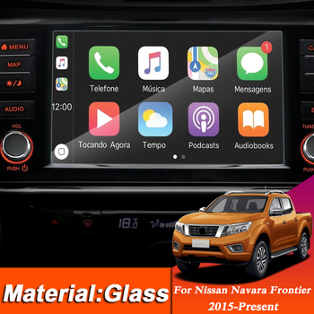 Car Styling Dashboard GPS Navigation Screen Glass Protective Film Sticker For Nissan Navara Frontier NP300 Control of LCD Screen image