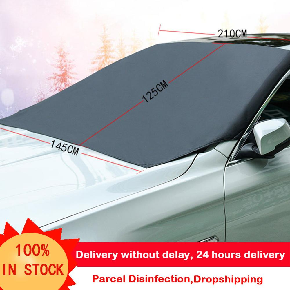 210 120cm Automobile Magnetic Sunshade Cover Car Windshield Snow Sun Shade Waterproof Protector Cover Car Front Windscreen Cover