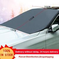210*120cm automóvel magnético pára sol capa pára brisa do carro neve sol sombra à prova dwaterproof água protetor capa do carro frente pára brisas capa|Protetor solar p/ parabrisas| |  -