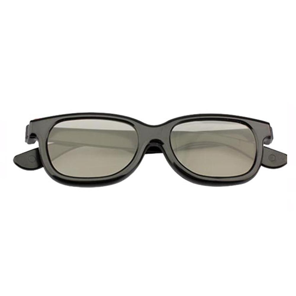 Polarized 3D Glasses Black Movie DVD LCD Video Game Theatre Circular -Drop